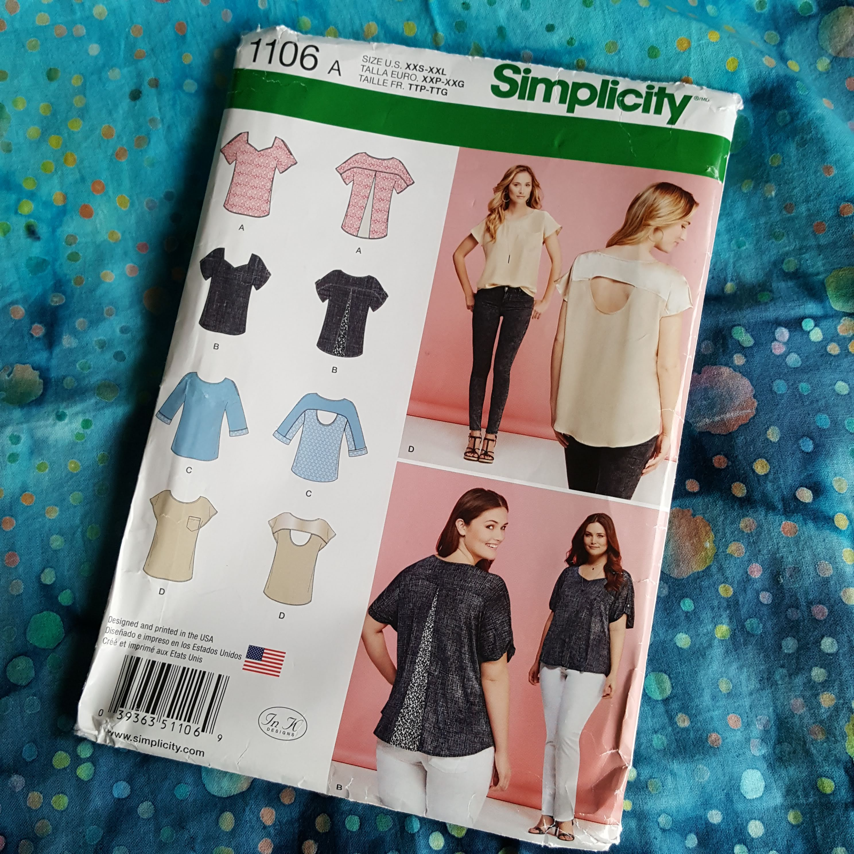 Simplicity 1106 pattern