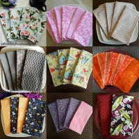 Cloth Napkins- A fun beginner's sewing project