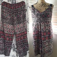 Refashion: Boho pants turned into a Boho dress