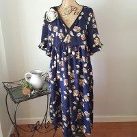 McCalls 7969- A Ruffled Sleeve Midi Dress